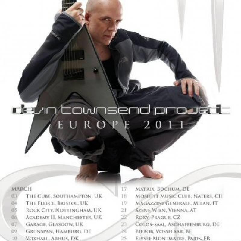 chronique Devin Townsend - European Tour