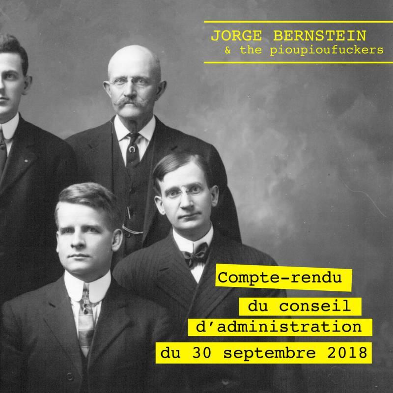 chronique Jorge Bernstein & The Pioupioufuckers - Compte Rendu du Conseil d'Administration du 30 Septembre 2018