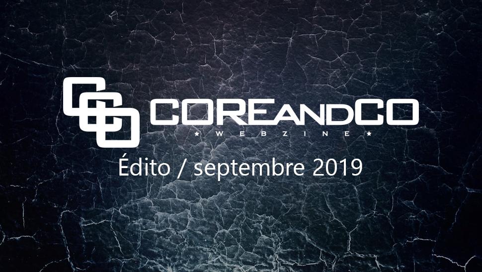 Edito rentrée 2019