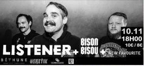 Jeu concours : 2X2 places à gagner pour Listener / Bison Bisou à Béthune le 10/11 !