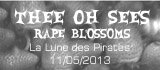 Thee Oh Sees + Räpe Blossoms - La Lune des Pirates  / Amiens (80) - le 11/05/2013