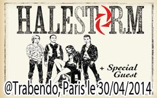 Halestorm - Le Trabendo / Paris (75) - le 30/04/2014