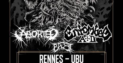 Entombed A.d. + Aborted + Baest - Ubu / RENNES (35) - le 12/11/2019 (Report)