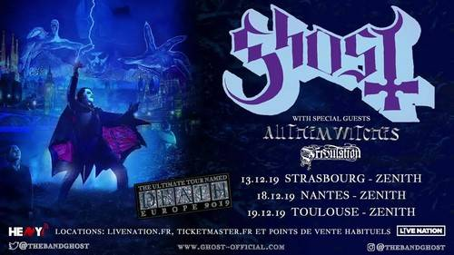 Ghost + All Them Witches - Zénith / NANTES (44) - le 18/12/2019