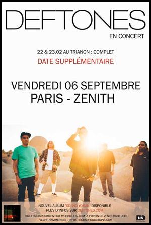 Deftones au Zénithe de Paris le 6 septembre 2013