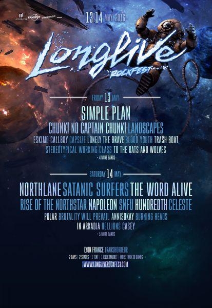 Le Longlive Rockfest 2016 dévoile de nouveaux groupes (actualité)