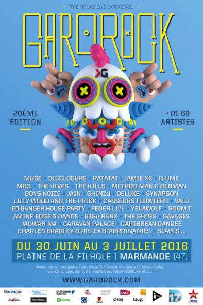 Le Garorock dévoile son affiche pour l'édition 2016 (actualité)