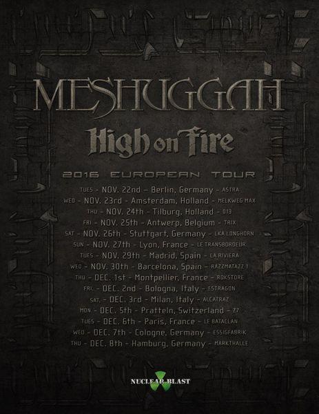 Meshuggah nous promet de grosses claques pour cet automne (actualité)