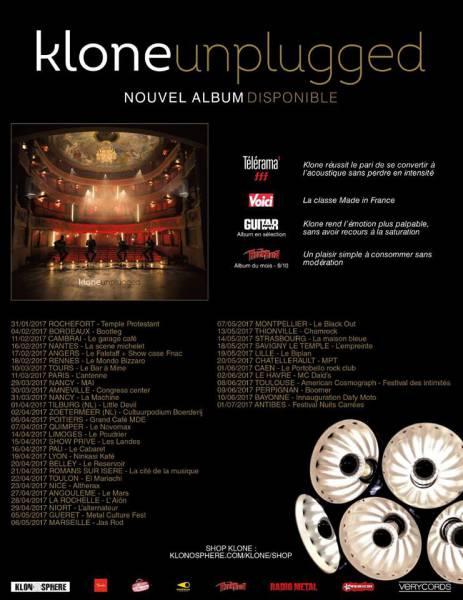 Klone balance ses dates de tournée (actualité)