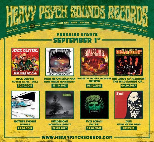 Précommandes d'automne chez Heavy Psych sounds (actualité)