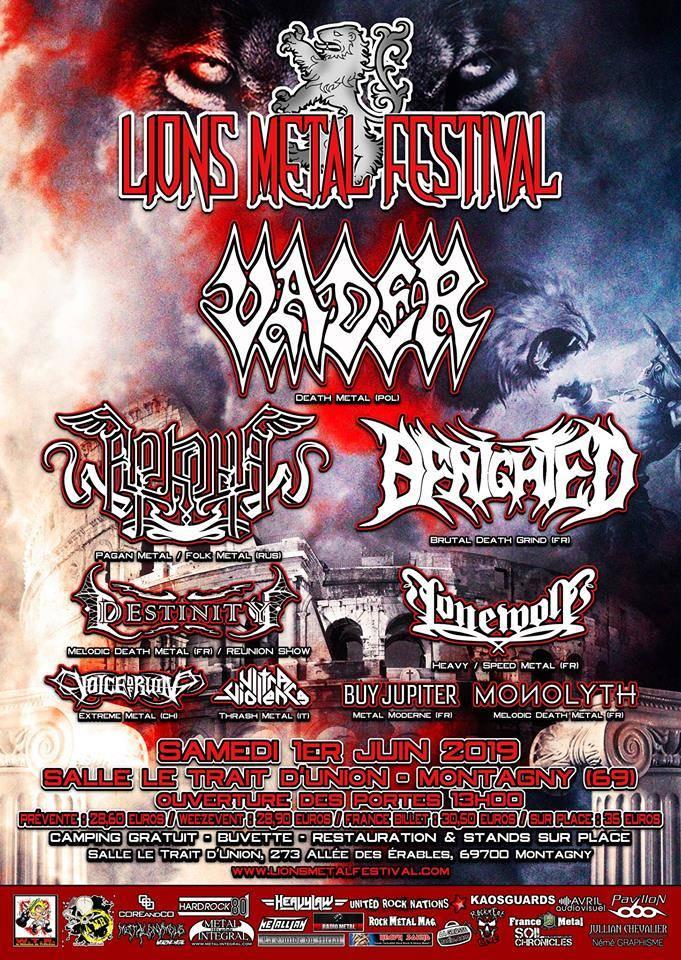 Le Lions Metal Festival arrive à grands pas  (actualité)