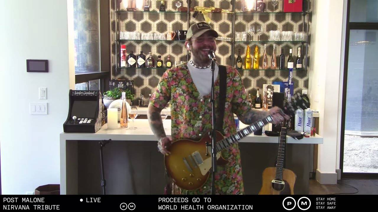 Post Malone rend hommage à Nirvana (actualité)