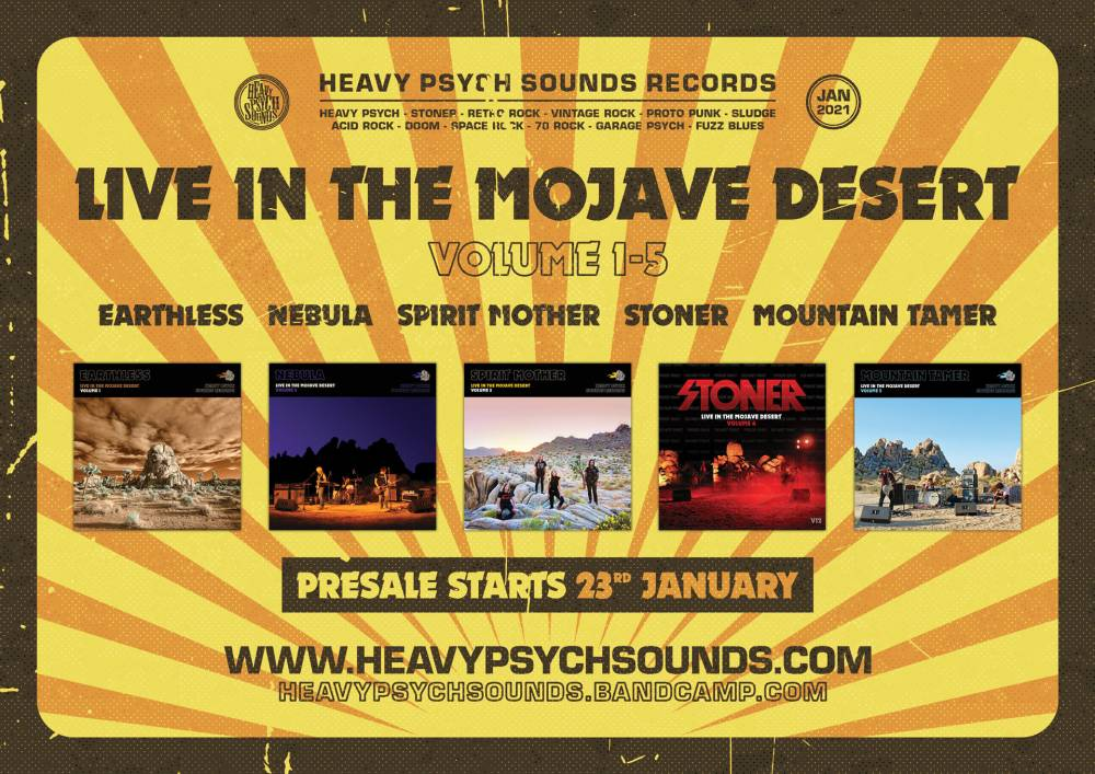 des stonedheads dans le desert (depuis trop longtemps) - Live In The Mojave Desert Vol. 1-5 (actualité)